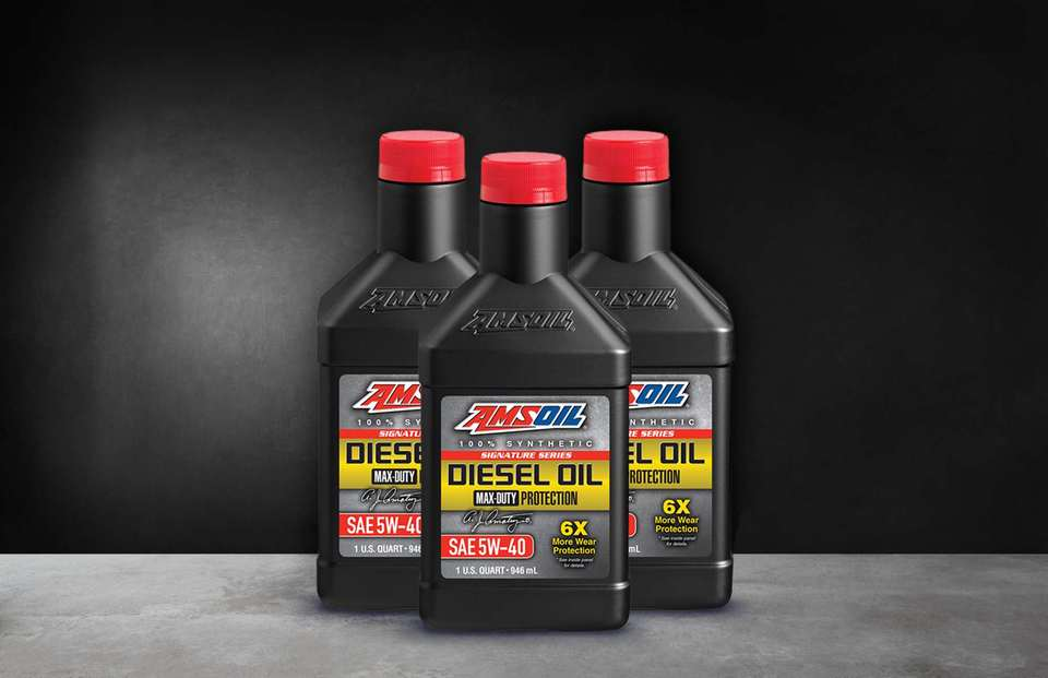 3 Bottles Signature Series Max-Duty Synthetic Diesel Oil 5W-40